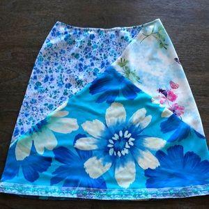 Luna Chix large skirt floral w beaded hem